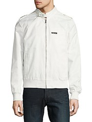 Members Only Original Iconic Solid Front Zip Jacket Off White