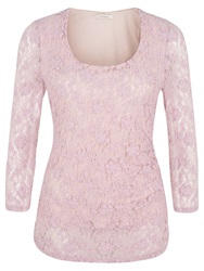 Kaliko Bubble Lace Top Pink