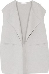 Duffy Paneled Merino Wool Blend Vest Stone