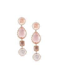 Larkspur And Hawk Sadie 4 Drop Multi Peach Earrings Pink