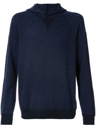 Vince Knitted Hood Jumper Cashmere Wool Blue