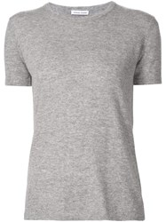 Tomas Maier Short Sleeve Sweater Grey