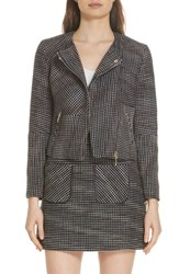 Ted Baker London Colour By Numbers Julio Boucle Moto Jacket Navy
