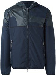 Emporio Armani Zip Up Hooded Jacket Blue