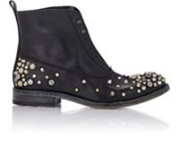 Sartore Studded Laceless Boots Black