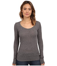 Obey Demri Long Sleeve Heather Grey Women's Long Sleeve Pullover Gray
