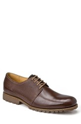 Sandro Moscoloni Men's Fabian Plain Embossed Derby Brown Leather