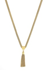 Vince Camuto 'Tribal Core' Tassel Pendant Necklace Gold