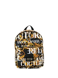 Versace Jeans Couture Logo Print Back Pack Yellow