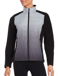 New Balance Dip Dyed Quilted And Fleece Performance Jacket Black