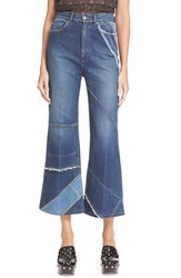 Marc By Marc Jacobs Women's Marc Jacobs Flare Crop Patchwork Denim Trousers