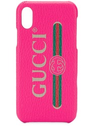Gucci Vintage Logo Print Iphone X Case Red