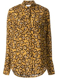 Christian Wijnants Oversized Printed Shirt Brown