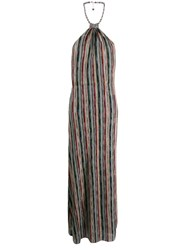 Missoni Halterneck Maxi Dress Blue
