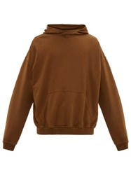 Haider Ackermann Relaxed Cotton Hooded Sweatshirt Brown