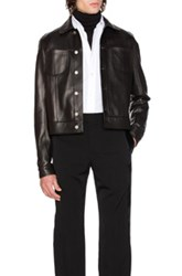 Maison Martin Margiela Lamb Leather Trucker Jacket In Black