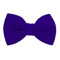 40 Colori Royal Blue Solid Silk Knitted Bow Tie