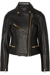 Karl Lagerfeld Odina Leather Biker Jacket Black