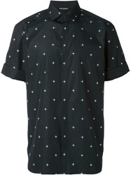 Neil Barrett Cross Print Shirt Black