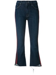 Mother Skinny Jeans Cotton Polyester Spandex Elastane Blue