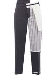 Monse Inside Out Cropped Trousers Grey