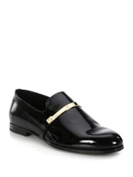Jimmy Choo Patent Leather Loafers Black