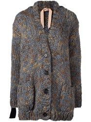 N 21 No21 Chunky Loose Oversized Cardigan Grey