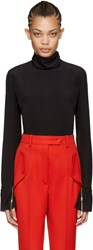 Nina Ricci Black Silk Blouse