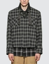 Sacai Ombre Check Shirt Black