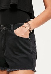 Missguided Gold Simple 3 Pack Bracelets