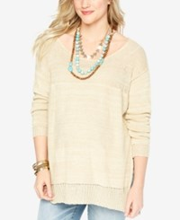 Wendy Bellissimo Maternity Relaxed Fit Sweater Pebble