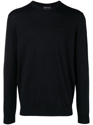 Emporio Armani V Neck Sweater Black