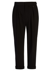 Isabel Marant Lissa High Rise Cropped Trousers Black