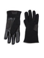 Ugg Fabric Smart Gloves Black Charcoal