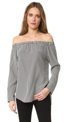 Rag And Bone Greta Blouse Black White Bengal