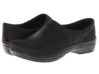 Klogs Usa Mission Black Oil Leather Women's Clog Shoes