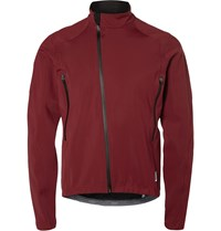 Cafe Du Cycliste Regine Zipped Waterproof Cycling Jacket Burgundy