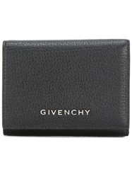 Givenchy Logo Plaque Wallet Black