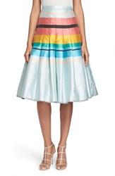 Women's Tracy Reese Pleated Stripe Skirt