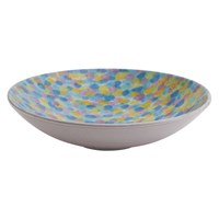 Habitat Melody Large Hand Decorated Serving Bowl Multi Coloured