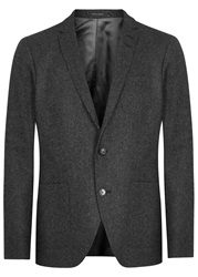 Tiger Of Sweden Hoyt Grey Wool Blend Jacket