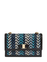 Salvatore Ferragamo Ginny Woven Leather Shoulder Bag