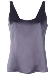 Diane Von Furstenberg Scoop Back Tank Grey