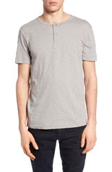 Theory Men's Gaskell Henley T Shirt Winter Sky