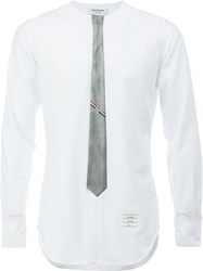 Thom Browne Incorporated Tie Shirt Men Silk Cotton 3 White