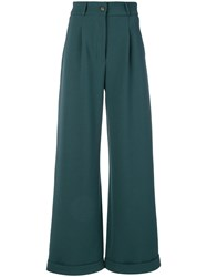 Societe Anonyme Long Brunch Trousers Women Wool 44 Green