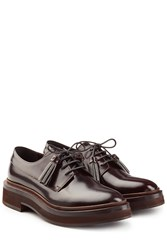 Brunello Cucinelli Leather Lace Ups Brown
