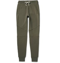 John Elliott Escobar Tapered Loopback Cotton Jersey Sweatpants Green