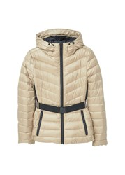 Mango Feather Down Coat Beige