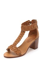 Zimmermann Link Weave T Bar Sandals Tan
